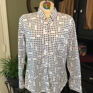 Gap The New Tailored Shirt Polka Dot Shirt Size M